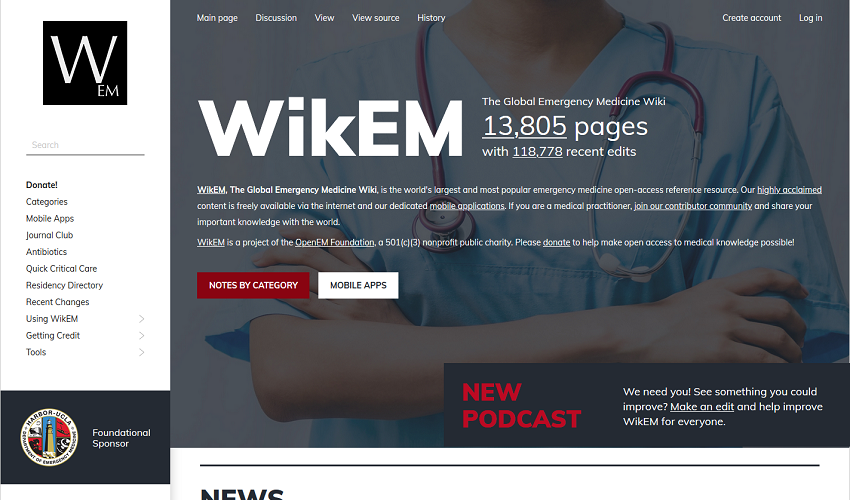 WikEM, The Global Emergency Medicine Wiki